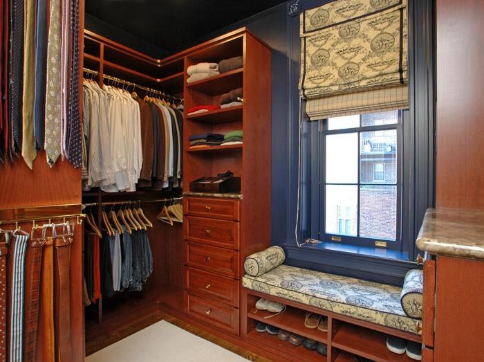 Built In Closet At Benjamin Mansion In Boston