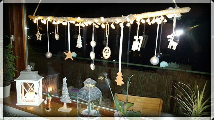 Landhaus, Deko, Weihnachten, Fenster