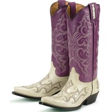 Purple cowboy boots :)
