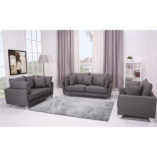 Lexington Grey 3-piece Furniture Set   might be too much grey. Need different color chair.