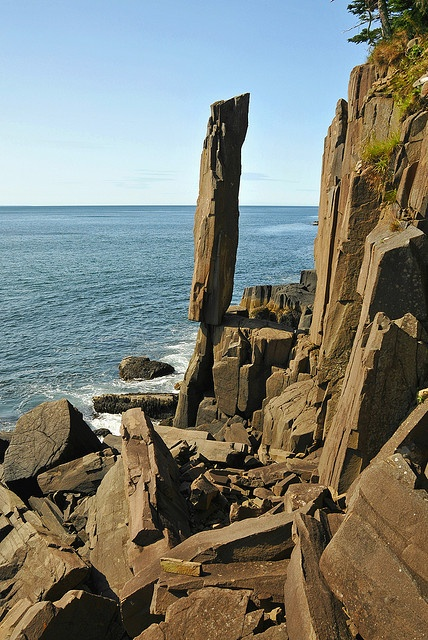 Halifax is a good jumping off point to explore Nova Scotia The phenomenal Balancing Rock in Halifax is approximately four feet wide & twenty feet tall. This immense basalt column stands alone after many like it have dropped into the sea and the earth. It's an amazing wonder of nature.