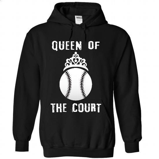 Queen of the court - Baseball - #tee times #shirt maker. MORE INFO => https://www.sunfrog.com/Sports/Queen-of-the-court--Baseball-4006-Black-33301362-Hoodie.html?60505