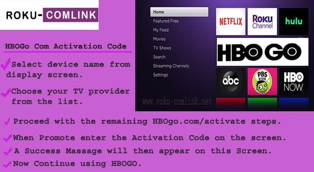 Hbogo Com Activate Roku Tv Providers Roku Channels