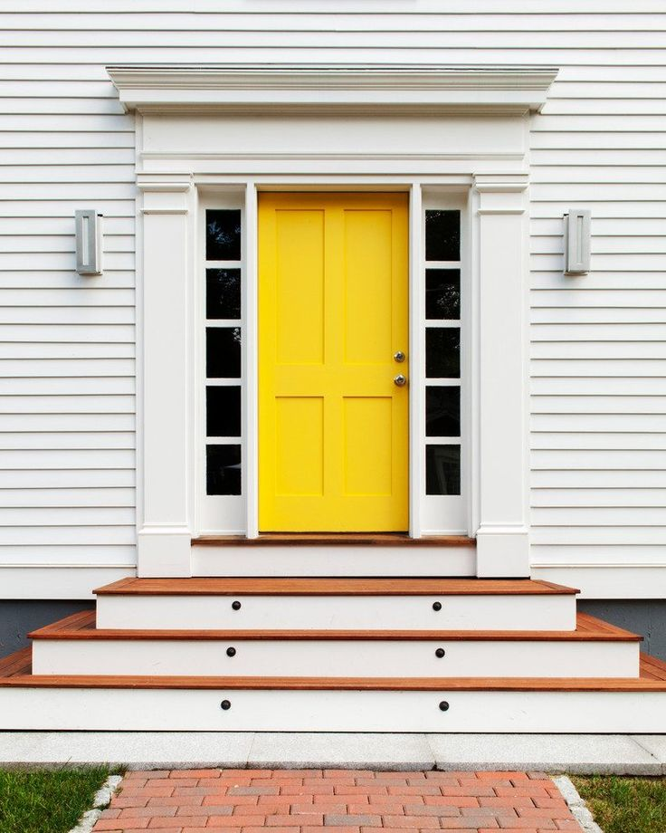 Front Door Step Ideas: 1000+ Ideas About Yellow Front Doors On Pinterest