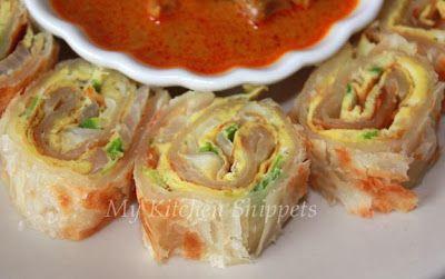 My Kitchen Snippets: Egg Paratha Rolls