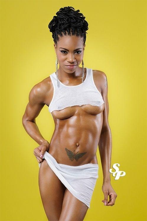Sexy athletic black women