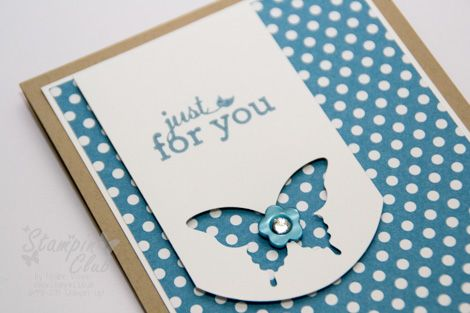 _DSC0118 Stampin Up Cards Stamp A stack DSP Polka Dot Parade Just for you Luftpost up up and away Eleganter Schmetterling Stanze Punch Elegant Butterfly_