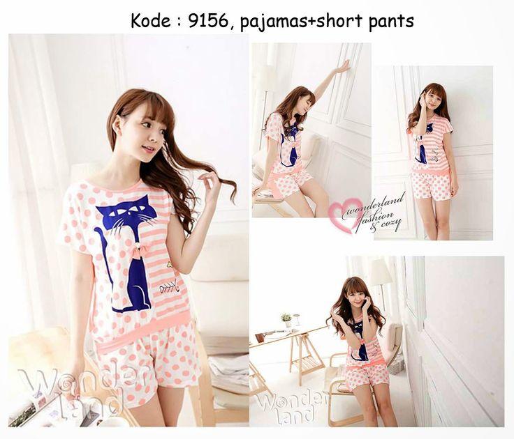 9156-90rb Jual baju tidur celana pendek lucu korea