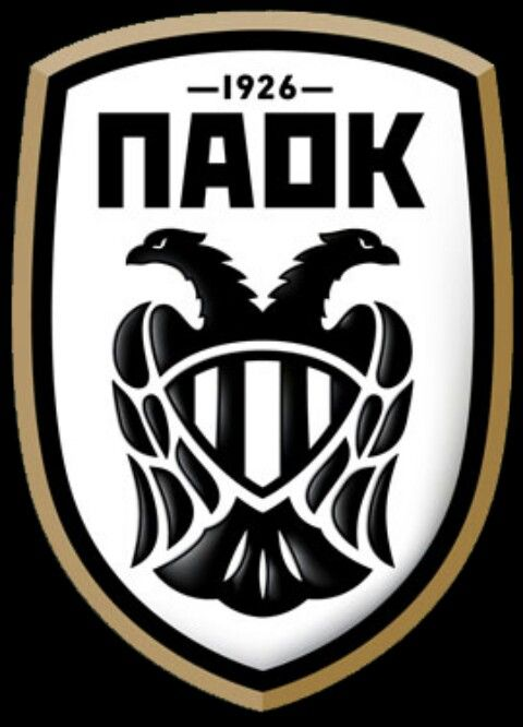 PAOK Thessaloniki of Greece crest.
