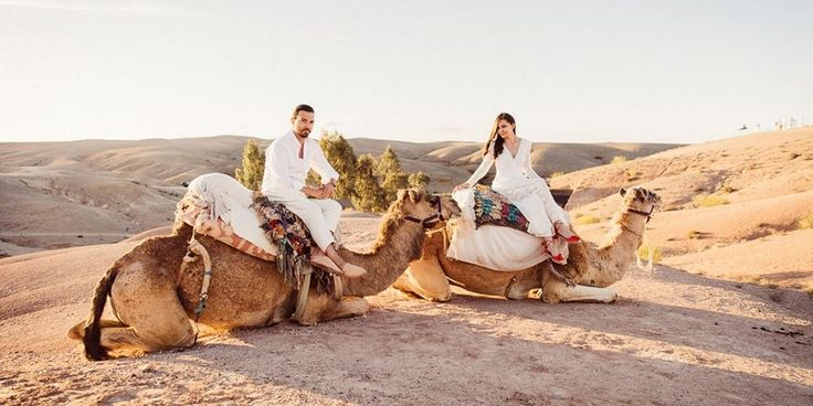 The designer duo married in Morocco...complete with multiple fetes–and falconry.   Photos : ©lasdecoeur Photo + cinéma - www.lasdecoeur.com