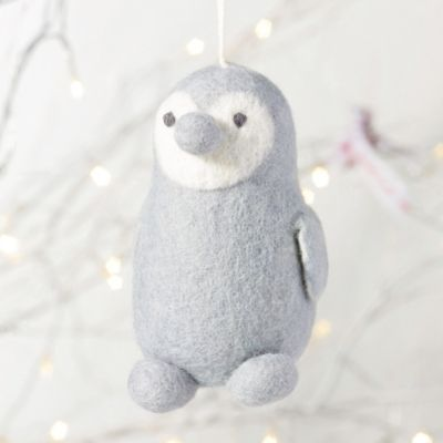 Felt Penguin Christmas Decoration from The White Company