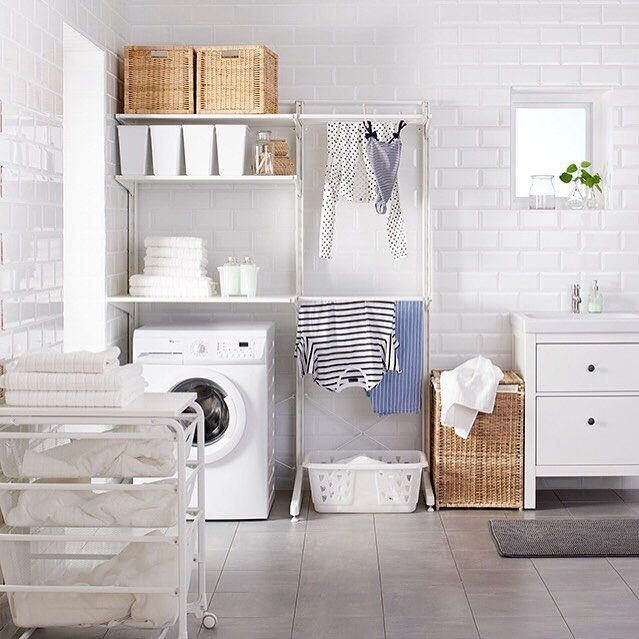 Find This Pin And More On Laundry Create Your Own Algot Shelving Combination
