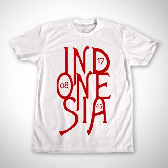 IndonesiaTypo Putih dari Tees.co.id oleh Densoes00