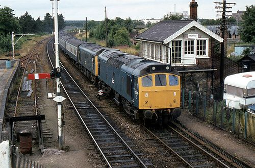 Class 25's at Thetford.