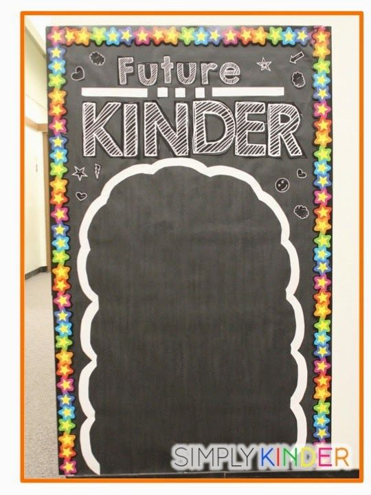Bulletin board set for Future Kinder, Welcome to, and Last day from Simply Kinder!