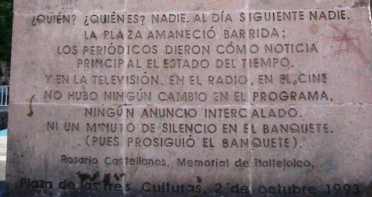 20 best school poetry images on pinterest beautiful places rossanareguillo estrofa rosario castellanos sobre medios de comunicacin desp de 2 oct 1968 en fandeluxe Choice Image