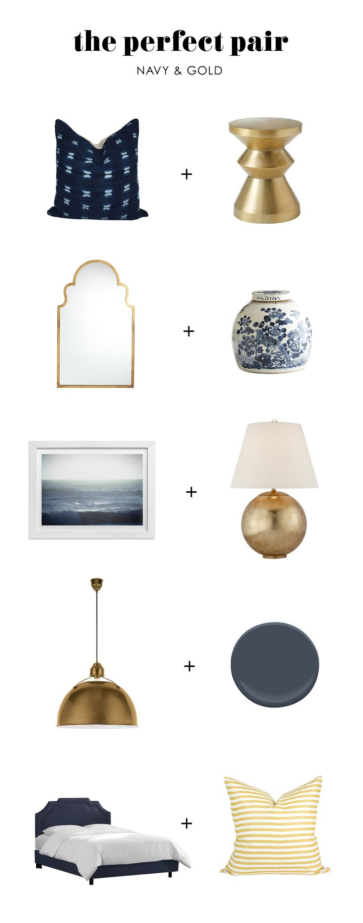 The Perfect Pair: Navy & Gold