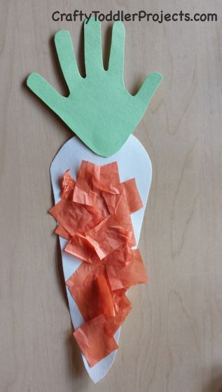 Crafty Toddler Projects: Easter Craft: Handprint Carrot