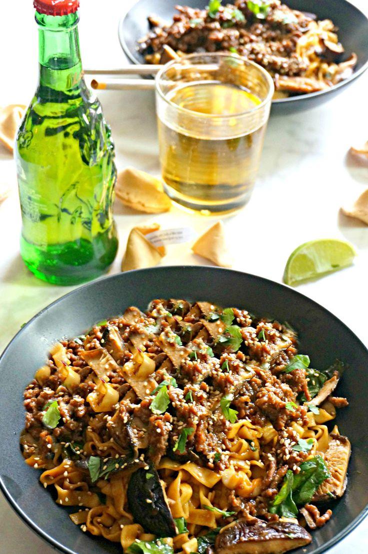 Shanghai Noodles with Ground Pork & Veggies - Discover, A World Market Blog  USE FRESH SHANGHAI NOODLES OR UDON, FRESH FETTUCINE IN A PINCH
