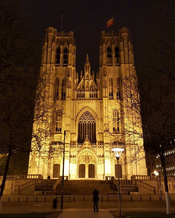 A Night in the City the Cathedral of St. Michael and St. Gudula in Brussels  #brussels #belgium #travel #night #NightInTheCity #city #cathedral #church #stmichael #stgudula #oldarchitecture #architecture #street #streetphotography #galaxys6