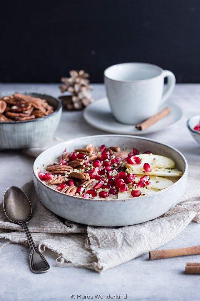 Oat Buckwheat Porridge // Hafer-Buchweizen-Porridge • Maras Wunderland