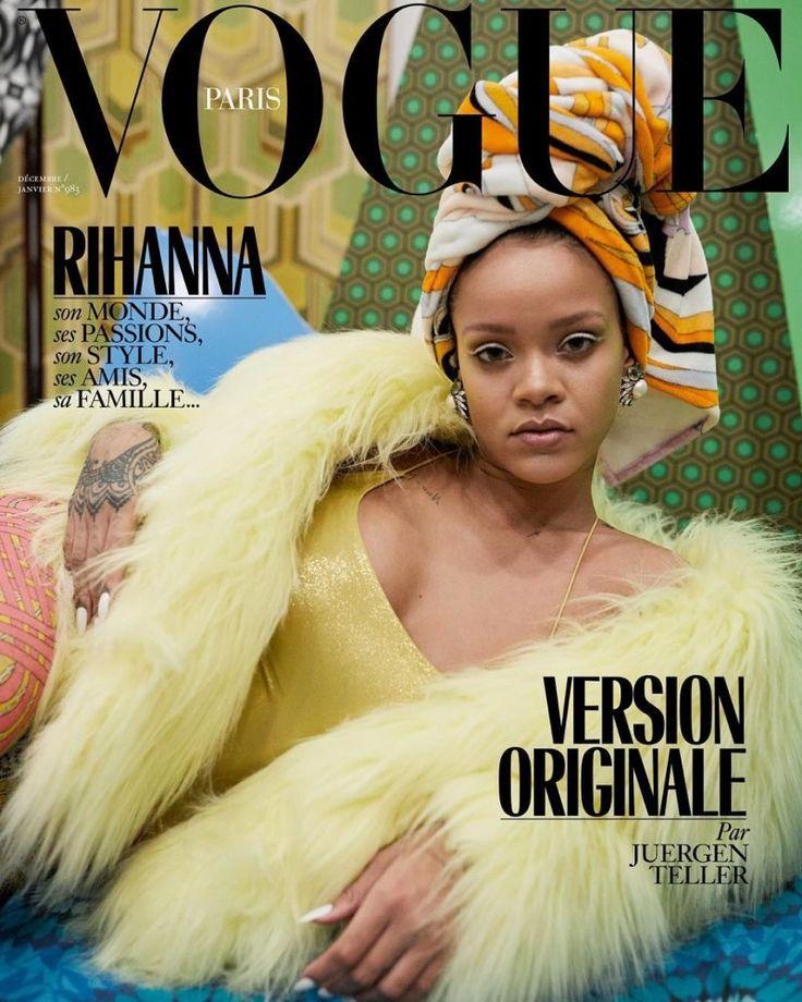 Rihanna on Vogue Paris December / January 2017.18 Cover