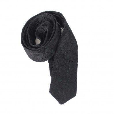 cr cravatta pizzo di color nero