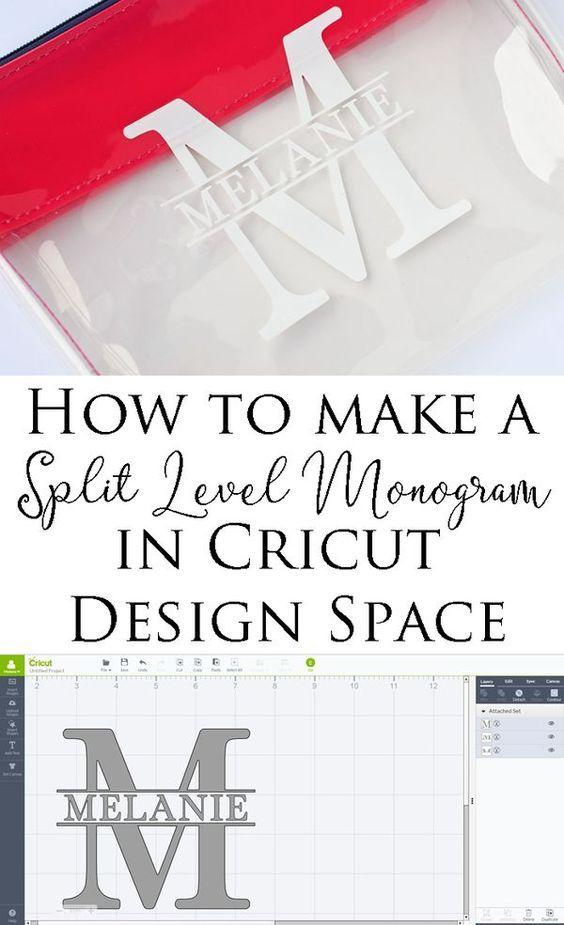 How to Make a Split Level Monogram in Cricut Design Space | a step by step Cricut tutorial
