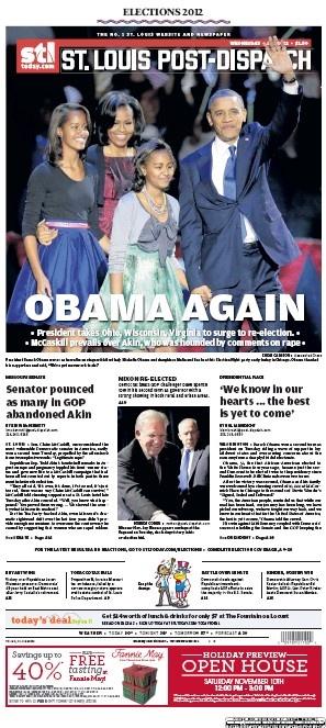 St. Louis Post-Dispatch November 7, 2012
