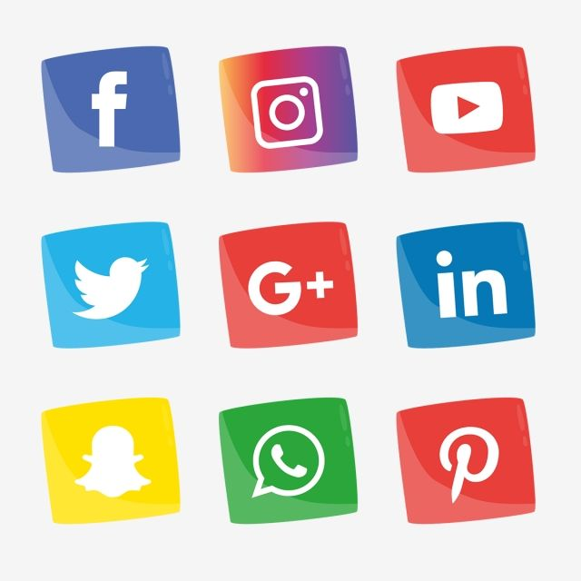 Social Media Icons Set Logo Vector Illustrator Icon Media