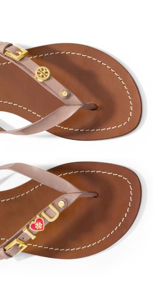 Charm Mom this Mother's Day with customized Tory Burch Monogram Flat Thong  Sandals