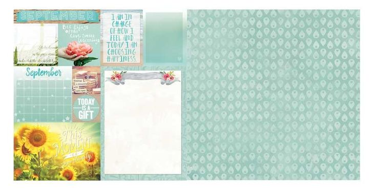 September Calendar Girl 12x12 Scrapbook Paper - 5 Sheets by Bo Bunny
