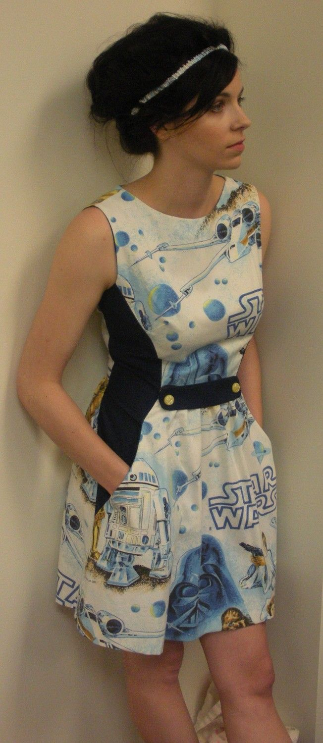 Star Wars Dress Chapter One. $165.00, via Etsy.....I could make this, just need to find bed sheets