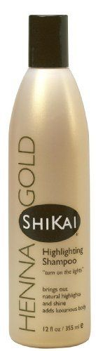 ShiKai Henna Gold Highlighting Shampoo, 12-Ounces (Pack of 3) by Shikai. $22.90. Brings out natural highlights & shine. Adds luxurious body. Gentle, pure & soap-free. Henna is well known for its extraordinary ability to reflect light and reveal hair's natural colors and shine without the damaging effects of artificial coloring agents.. Save 18% Off!