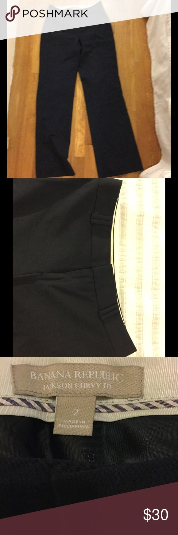 Banana Republic Jackson Curvy Fit navy suit pants Banana Republic Jackson Curvy Fit navy blue suit pants. In like new condition. Only worn handful of times. Banana Republic Pants Trousers