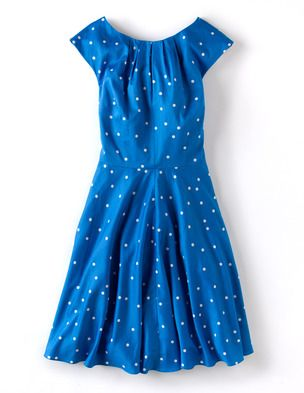 Flowershow Dress - Boden Sale, in other colours too. Bit brighter than your navy one, but take a look x