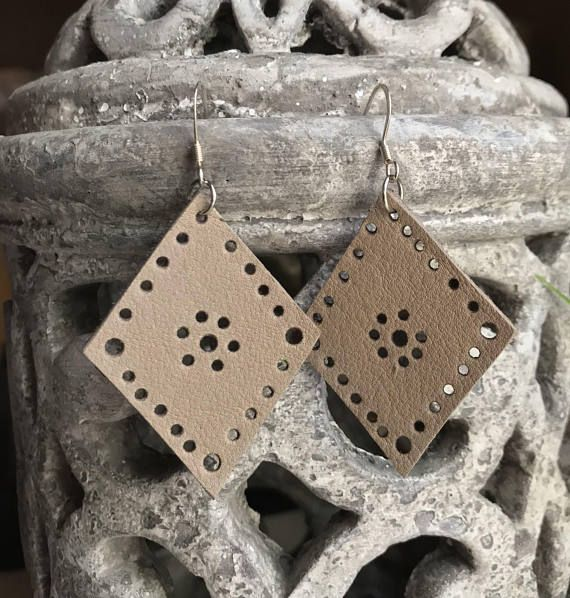 Real Leather earrings