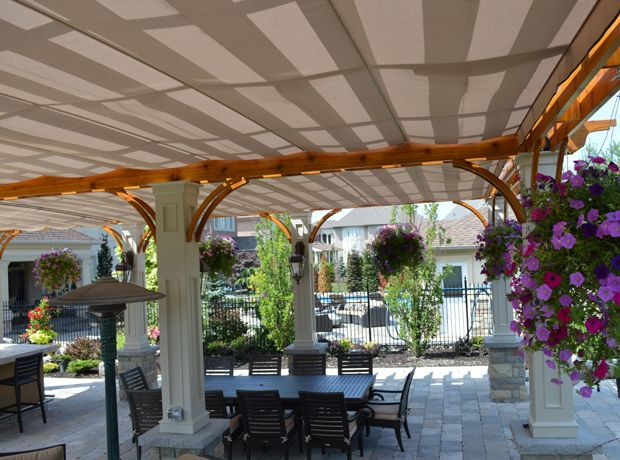 toile coulissante sur cable pour pergola trendy retractable pergola sails with toile. Black Bedroom Furniture Sets. Home Design Ideas