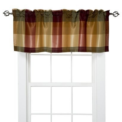 Target Home Plaid Valance Red 54x18 I Love Jan For Posting These Perfect For My Kitchen