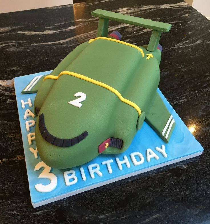 Thunderbird 2 birthday cake