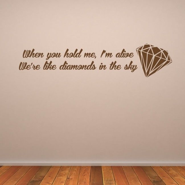 161 best Song Lyric Wall Stickers images on Pinterest ...