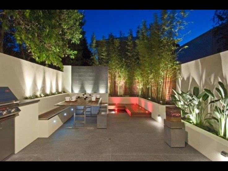 Great lighting in the patio