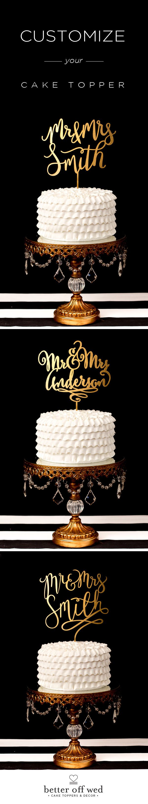 """Even my fiance who doesn't get excited about this stuff really loved this cake topper! We ordered ours in the """"joyful"""" style couldn't be happier ♥ www.betteroffwed.co"""