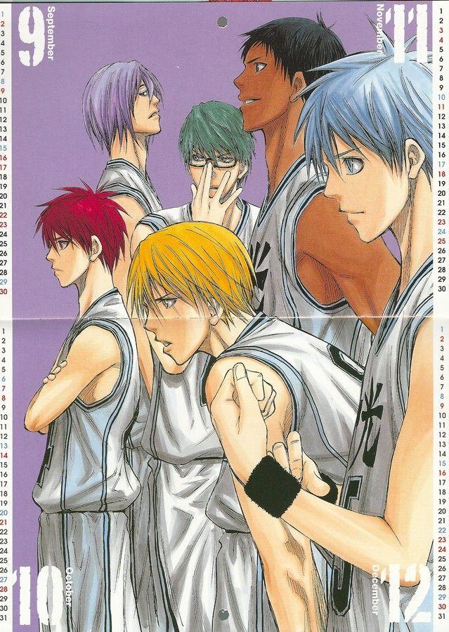 Kuroko no Baske: Kuroko no Basket 2012 Calendar - Sep/Oct/Nov/Dec