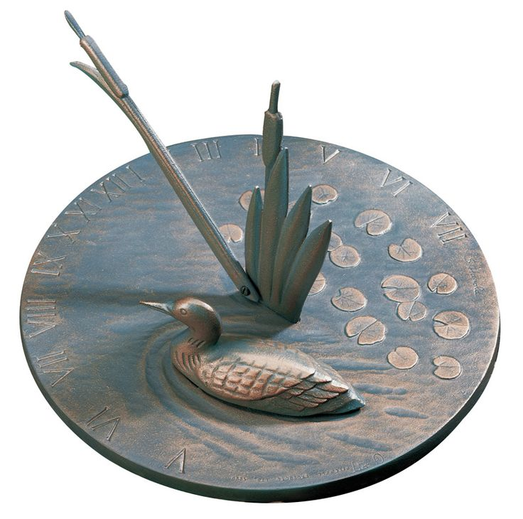 Whitehall Products Loon Sundial French Bronze Color Made Of Aluminum In United States