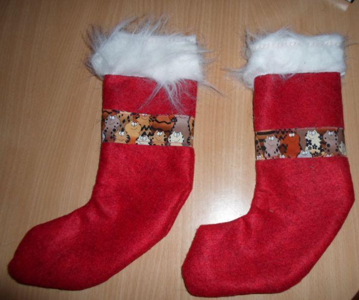Christmas socks for my cats.