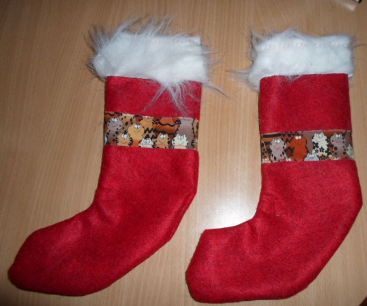 Christmas socks for my cats.