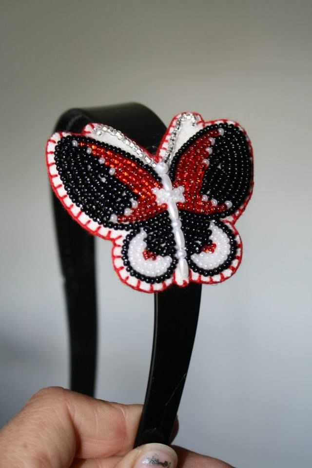 Beaded Butterfly Headband Beadwork Pinterest