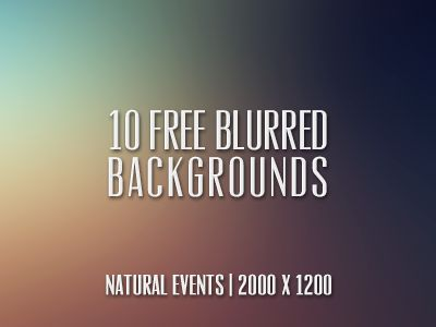 10 (Free) Blurred Backgrounds! by Cat Noone
