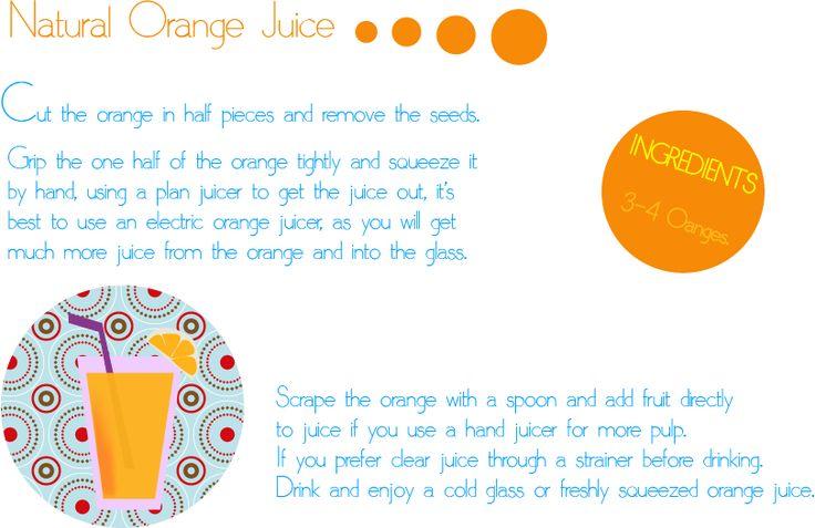 La Margarita Roja*: Ha llegado el verano...y el calor...zumito de naranja freskito con instrucciones en inglés